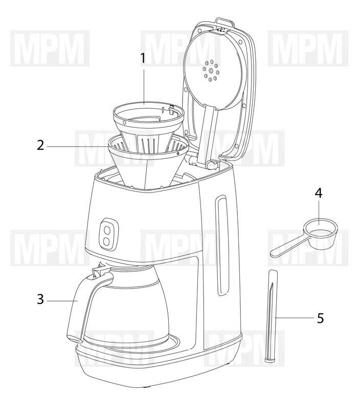 Vue eclatée cafetiere expresso ECOV311.BG delonghi MPM